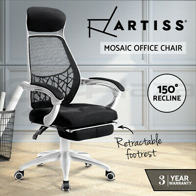 AU146.95 • Buy Artiss Gaming Office Chair Computer Chair Home Work Study White