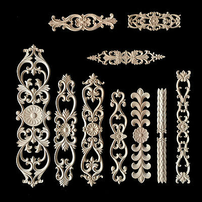 AU11.83 • Buy 1X Exquisite Classic Rubber Wood Carved Applique Vintage Furniture Craft Decor