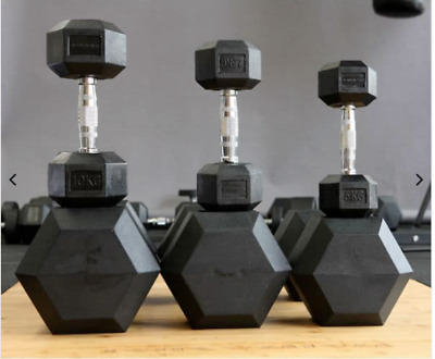 AU110 • Buy Rubber Hex Dumbbells - Sold In Pairs - All Sizes - [ In Stock  ] - Brand New
