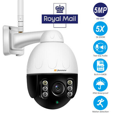 5MP IP Camera Wireless Outdoor CCTV HD PTZ 5XZoom Audio Wifi Smart Home Security • 113.99£