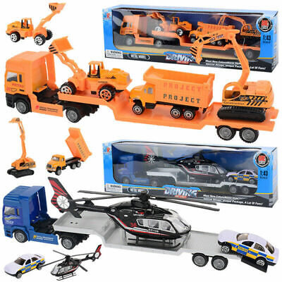 Kids Toy Recovery Vehicle Tow Truck Lorry Low Loader DieCast Construction Xmas • 8.98£