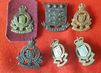 ROYAL ARMY ORDNANCE CORPS Collar Badge BUNDLE OF 6 • 9.99£