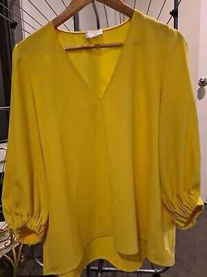 AU17.50 • Buy Yellow Witchery Blouse, Size 10