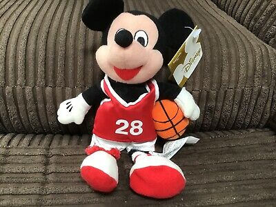 """£9.99 • Buy 🔥mickey Mouse Basketball 7"""" With Tags Disney Sports Bean Bag Plush Toy Kids🔥"""