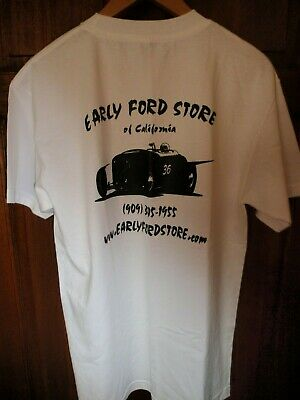 NEW Hot Rod T Shirt  Ford Store  White Medium Ford 32 Design Rockabilly • 14.99£