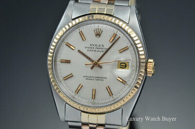 $ CDN8244.39 • Buy Rolex Datejust 18K Rose Gold & Stainless Steel Automatic Watch 1601