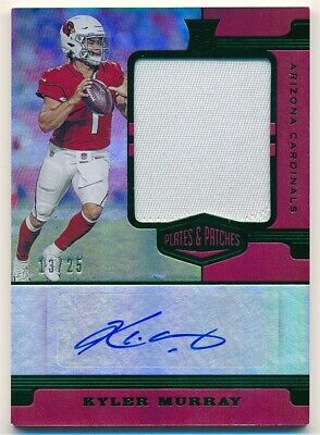 $ CDN68.25 • Buy Kyler Murray 2019 Panini Plates & Patches Rc Rookie Autograph Patch Auto Sp #/25
