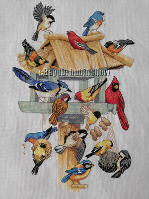 Handmade LUXURY COMPLETED FINISHED CROSS STITCH - Bird's Paradise - A141k • 59.99£