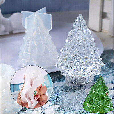 Christmas Tree Light Resin Casting Mold Silicone Candle Wax Making Mould NEW • 5£