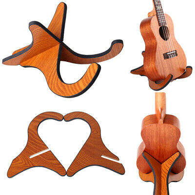 AU9.97 • Buy Portable Ukulele Wooden Foldable Holder Stand Vertical Guitar Stand Rack