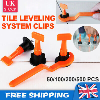 50~500Pcs Tile Leveler Construction Reusable Floor Wall Leveling System Tools UK • 7.49£