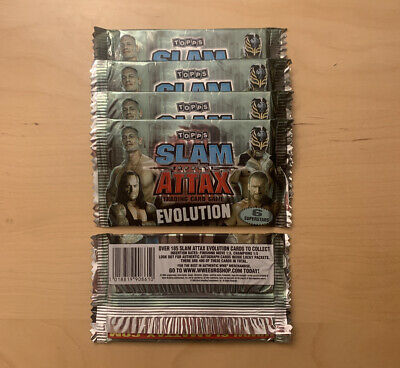 X5 Slam Attax Evolution Sealed Booster Packs WWE Topps (6 Cards Per Pack) Rare  • 4£