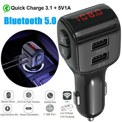 Bluetooth Car Kit MP3 Player FM Transmitter Wireless Radio Adapter USB Charger • 8.69£