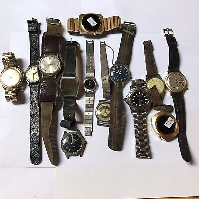 $ CDN13.87 • Buy Lot Of Mens Wrist Watches And Cases For Repair Or Restoration (k33)