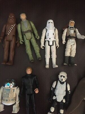 $ CDN70.08 • Buy Vintage Star Wars Action Figures Lot 16 Total Rare Used Hasbro
