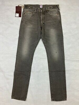Prps Japan Mens Woven Denim Jean Fury, Grey - Rrp £500+ • 150£