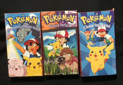 $17.32 • Buy Pokemon VHS Lot The Mystery Of Mount Moon- I Choose You Pikachu-picture Perfect