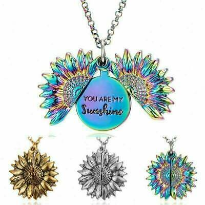 AU4.19 • Buy AU_You Are My Sunshine  Open Locket Sunflower Pendant Necklace Women's Gifts