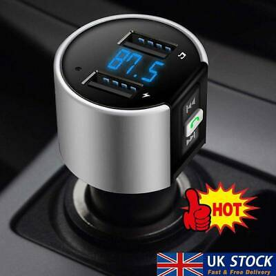 Wireless Bluetooth Car FM Transmitter MP3 Player 2 USB Charger Handsfree Kit UK • 5.49£