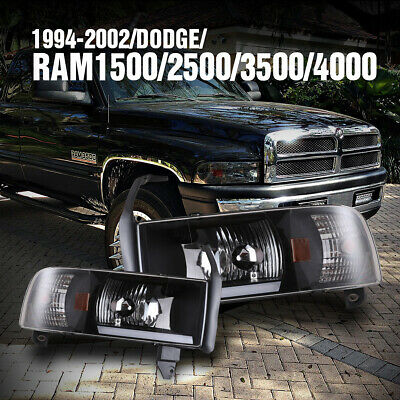 $102.99 • Buy For 94-01 Dodge Ram 1500 2500 3500 Headlights LED DRL Bar NON SPORT Front Lamps