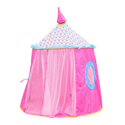 Princess Silk Curtain Fairy Castle Tent Kids Pop Up Play Tent Party Garden Toys • 13.39£