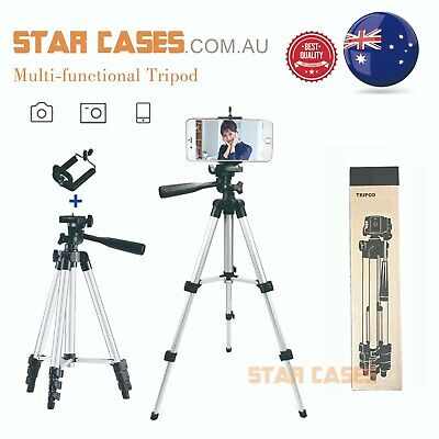 AU15.19 • Buy  Adjustable Camera Tripod Stand Mount Remote Phone Holder For IPhone Samsung