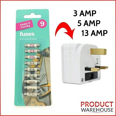 £2.39 • Buy Domestic Household Ceramic Mixed Fuses 3amp 5amp 13amp 9 Pack