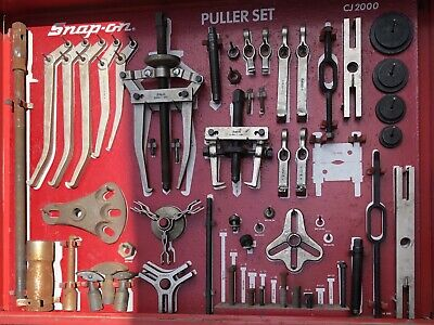 $2450.88 • Buy SNAP-ON Master CJ 2000 Interchangeable Puller Set With Cabinet