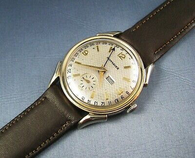 $ CDN461.06 • Buy Vintage Longines Wittnauer 10K Gold GF Mens Date Pointer Watch 17J 10SC 1950