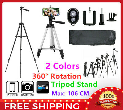 AU15.99 • Buy Professional Camera Tripod Stand Mount + Phone Holder For Phone IPhone Samsung