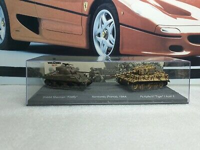 Tiger Tank & M4a4 Ww2 - 1/72  Scale Model Diorama  / World Of Tanks Collection • 14.99£