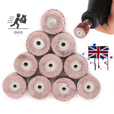 120 Grit Flap Wheel Sanding Sandpaper Drill Polish Disc For Rotary Tool 10Pcs • 2.79£