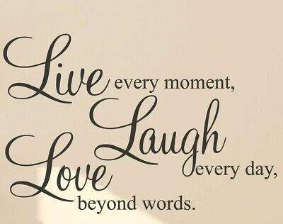Live Laugh Love Beige PICTURE PRINT CANVAS WALL ART FRAMED 20X30INCH • 19.99£
