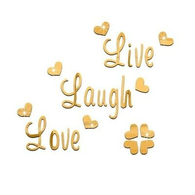 Live Laugh Love Gold PICTURE PRINT CANVAS WALL ART FRAMED 20X30INCH • 19.99£