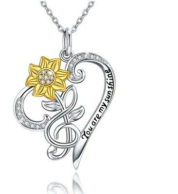 2020 You Are My Sunshine Women's Heart Necklace • 9.95£