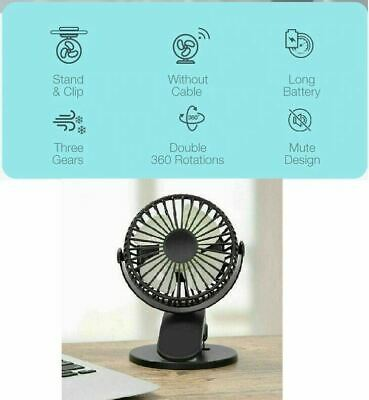 AU21.15 • Buy 360° Oscillating Portable Mini Fan USB Powered Home Office Clip On Desk Cooling