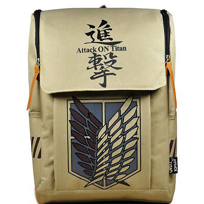 Large Capacity Attack On Titan Backpack Canvas Rucksack Anime Book Laptop Bag  • 15.99£