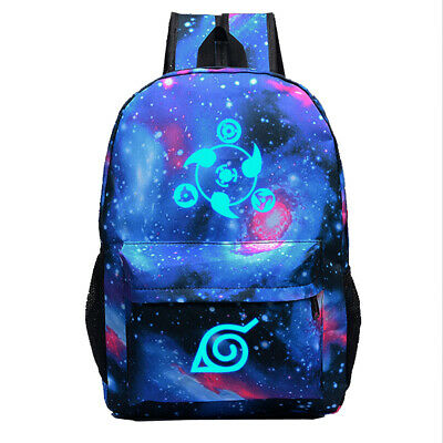 Anime Naruto Canvas Backpack Shoulder Bag School Bag Cosplay Prop Gift • 12.95£