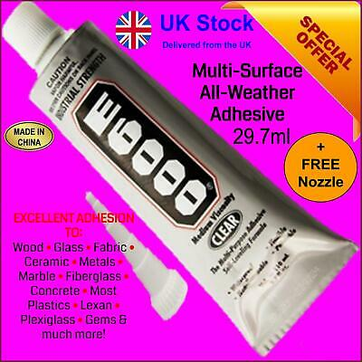 E6000 Glue Industrial Strength Adhesive 29ml CRAFT JEWELLERY GEM From Zhanlida  • 6.99£