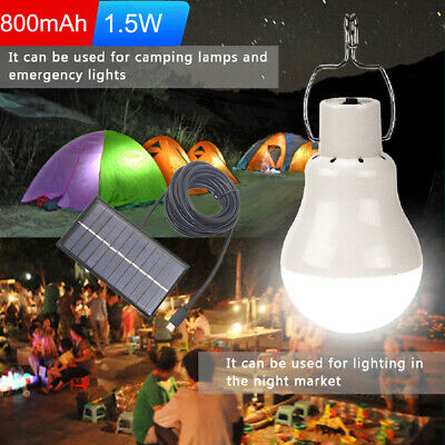 Portable Outdoor Solar Powered LED Bulb Lights Camping Hanging Hooking Lantern • 9.89£