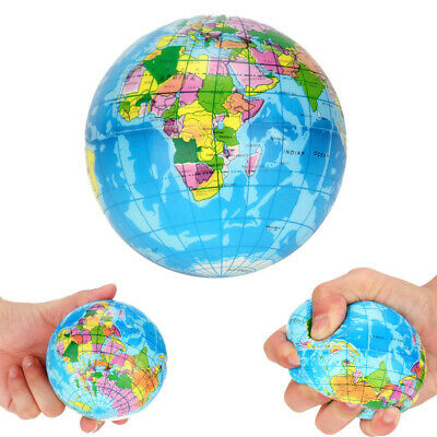 AU9.03 • Buy Earth Ball Charm Slow Rising Collection World Map Squeeze Stress Reliever Toys