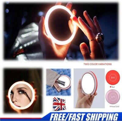 £8.99 • Buy MINI Small LED Makeup Mirror With Light Portable Round Llluminated Travel Mirror
