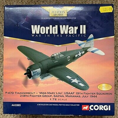 Corgi AA33803 P47d Thunderbolt Miss Mary Lou USAAF 19th Fighter Squadron • 24.99£