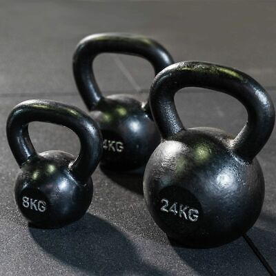 AU99 • Buy Cast Iron Kettlebells Gym Training [ Single ] In Stock [ All Weights ] Weights