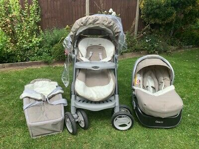 Graco Travel System - Cot, Car Seat & Buggy • 90£