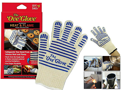 £4.69 • Buy BBQ Oven Gloves Single/Pair Kitchen Heat Proof Silicon Mitts Hot Surface Handler