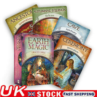 Magic Oracle Cards Earth Magic Read Fate Tarot 48-card Deck Party Game Gift UK ~ • 9.99£