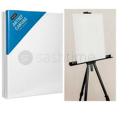 £16.95 • Buy Blank Artist Canvas Art Board Plain Painting Stretched Framed White Large 50x60c