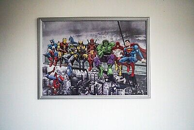 Abstract Comic Book Art Canvas Picture 50x70cm • 24.99£