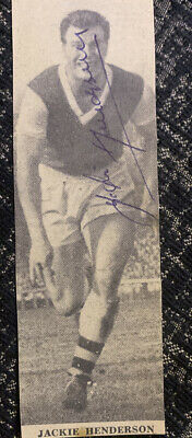 Signed Jackie Henderson 1950s Arsenal FC Football Autograph Portsmouth FC • 5.99£